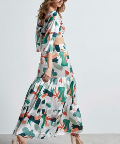 Maxi Dress Open Back Multycolor